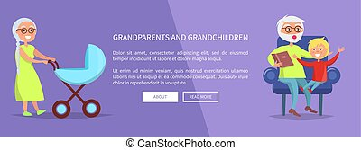 Grandparents and Grandchildren Poster with Family