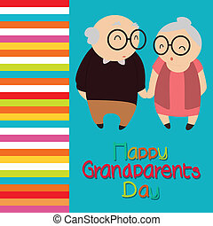 grandparents - happy grandparents day text with abstract...