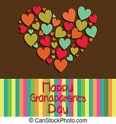 Grandparents day - happy grandparents day text with a big...