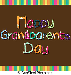 Grandparents day - Happy Grandparents day special text on...