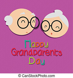 Grandparents day - Happy grandparents day with abstract...