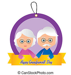 Grandparents day - Abstract Grandparents day background with...