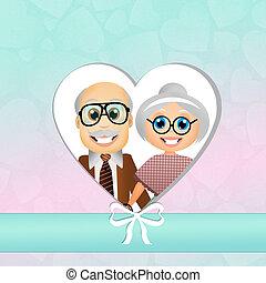 Grandparents Day - illustration of grandparents Day