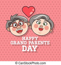 Grandparents design - Grandparents concept with old people...