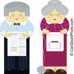 Grandparents - Vector illustration of family theme....
