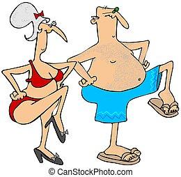 Grandparents exercising