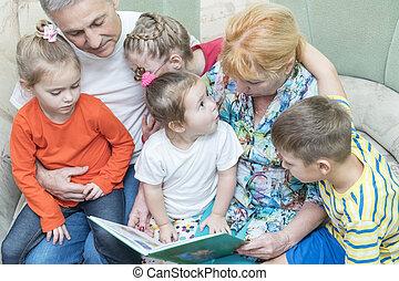 grandparents teach grandchildren to read