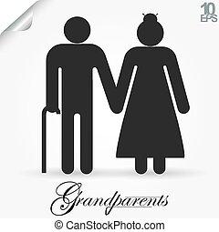 Grandparents vector illustration