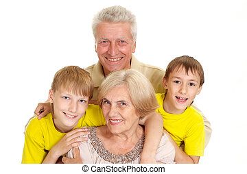 Grandparents with their beautiful grandchildren