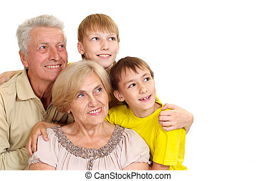Grandparents with their nice grandchildren