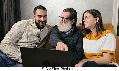 grandpa's, rire, histoires, petits-enfants