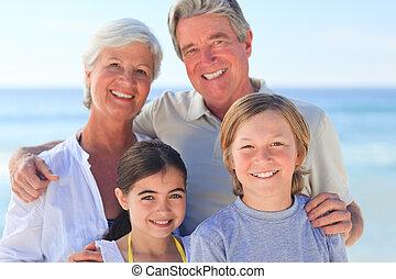 grands-parents, à, leur, petits-enfants
