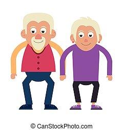 grands-parents, couple, personnes agées