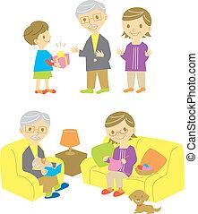 grands parents, fils