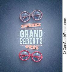 grands-parents, jour, heureux