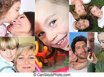 grands-parents, parents, enfants, ou