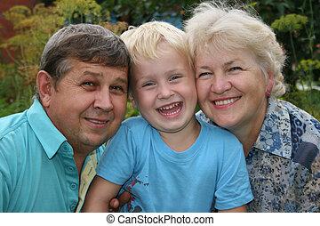 grands-parents, petit-fils