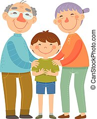 grands-parents, petit-fils