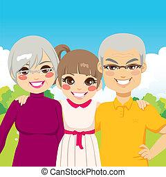 grands-parents, petite-fille