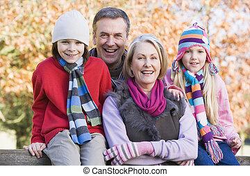 grands-parents, petits-enfants, promenade