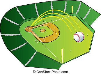 GrandSlamHomeRun - A baseball flying high out of the park...