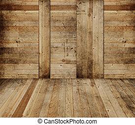 grange, intérieur, bois