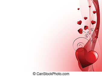 Grange vector Valentines Day background with hearts