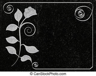 granit, décoré