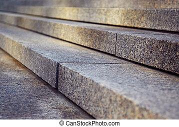 granit, escalier