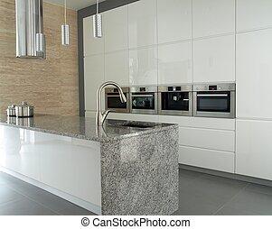 granit, nymodig, kök, countertop