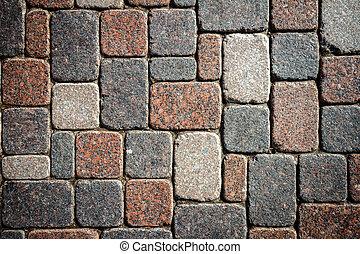 granit, pavage, texture