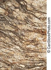 granit, randig, grangy, sten, yta