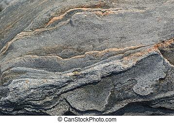granit, sten, ytlig, dof, struktur