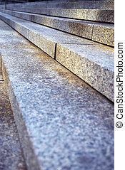 granit, treppe