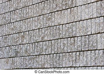 Granite Block Wall on Angle