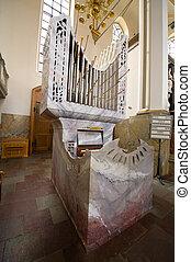 Granite church organ