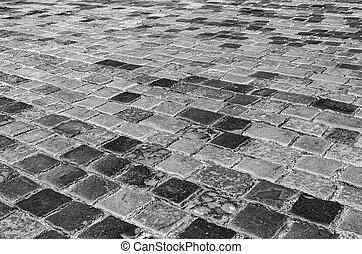 Stone pavement texture.