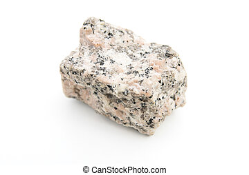 granite isolated over white