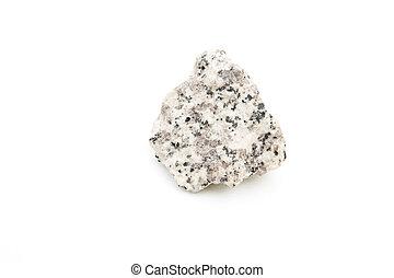 granite isolated over white