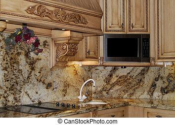 granite kitchen counters - beautiful granite stone in...