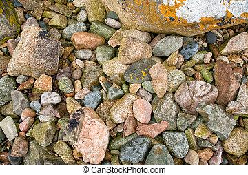 granite pebble on Pink Granite Coast in Brittany