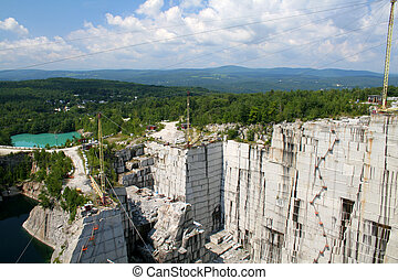 Granite Quarry - Active granite quarry in Barre Vermont