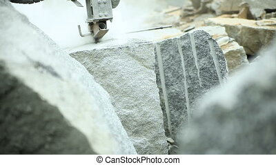 Granite quarry drilling