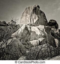 granite rock formation in Vedauwoo Recreation Area, Wyoming...