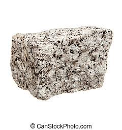 Granite rock isolated