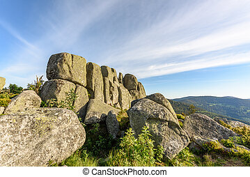 Granite rocks in the Vosges mountains