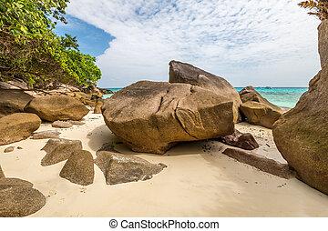 Granite rocks of Similan Islands