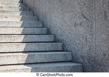 granite staircase in a street
