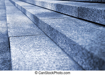 Granite stairs - Close up on granite stairs in perspective