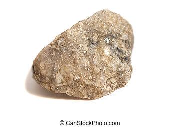 Granite stone isolated on white background